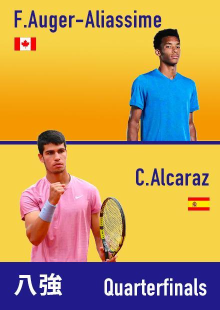 0908美網男單8強_奧格阿里辛vs阿爾卡拉斯