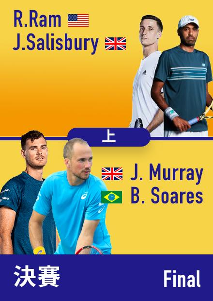 0911美網男雙決賽_索爾茲柏里-拉姆vs穆雷-蘇雷斯