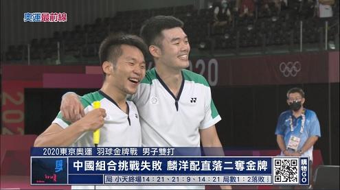 體壇最前線 7/31:台灣奧運羽球首金!李洋王齊麟寫歷史 (更多...)